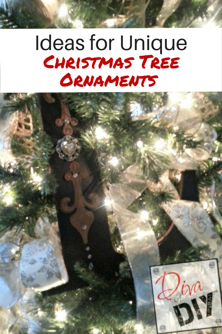 Ideas for Unique Christmas Tree Ornaments | Diva of DIY