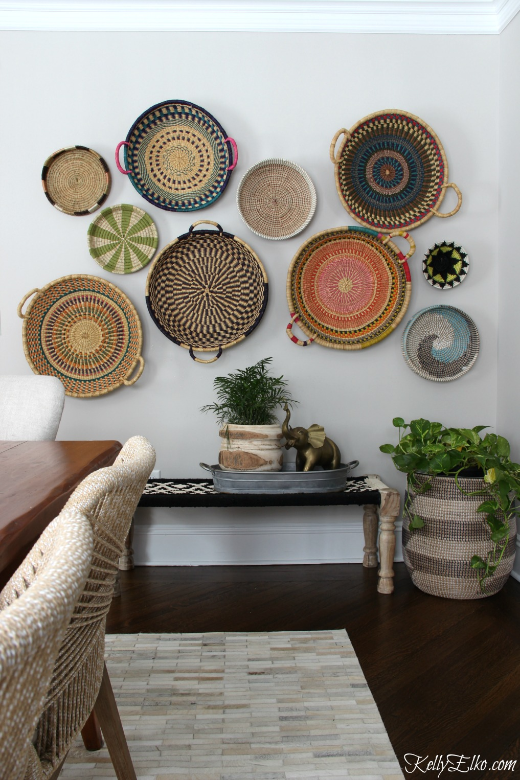 DIY Boho Craft Projects Boho Decor Basket Gallery Wall