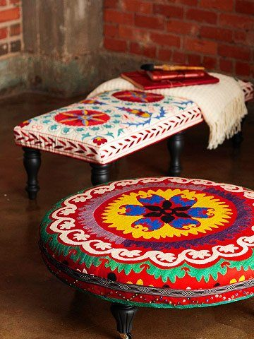 DIY Boho Craft Projects ottoman
