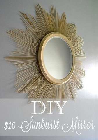 DIY Boho Craft Projects Mirror