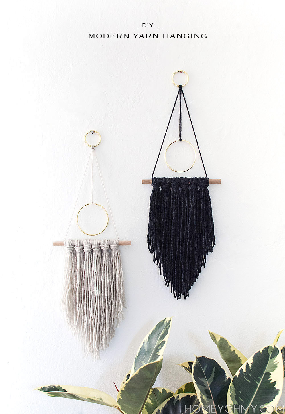 DIY Boho Craft Projects Yarn Hanging
