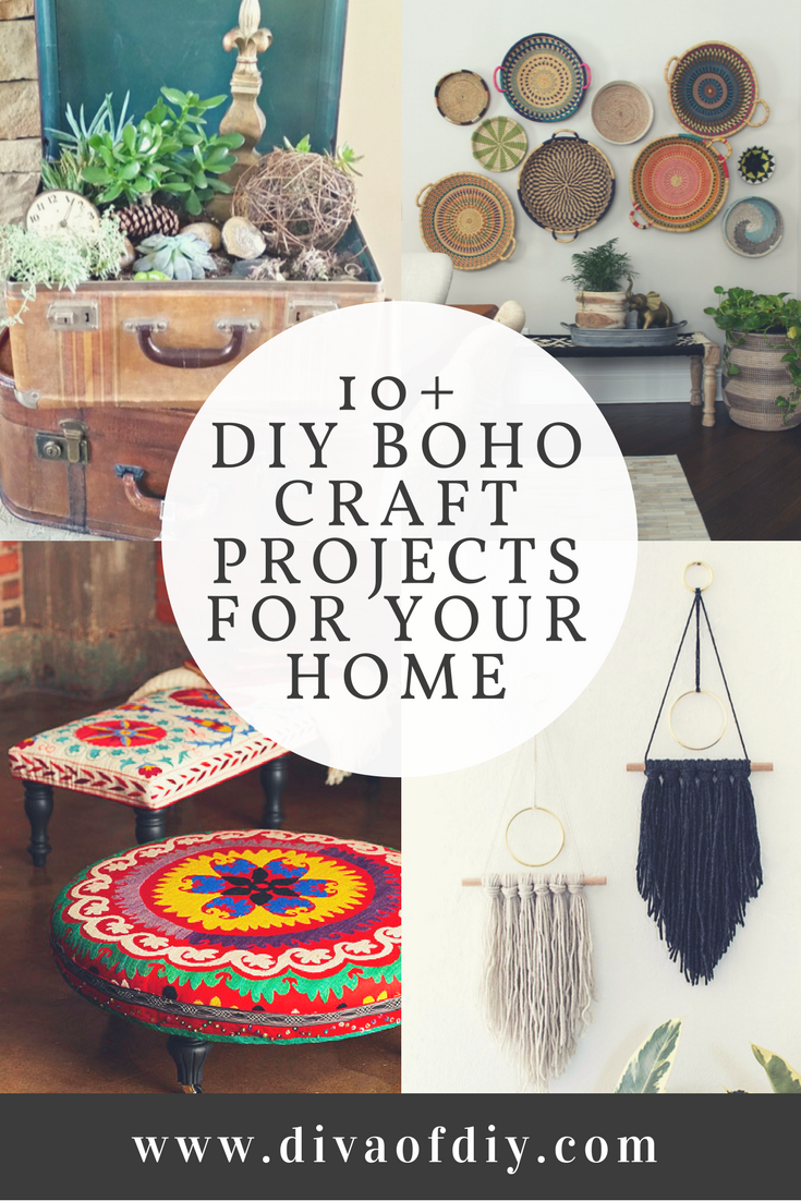 Boho Decor - 10 DIY Boho Craft Projects for your Home