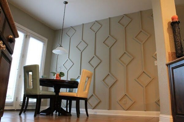 Wood Accent Wall Diamond Wood Wall