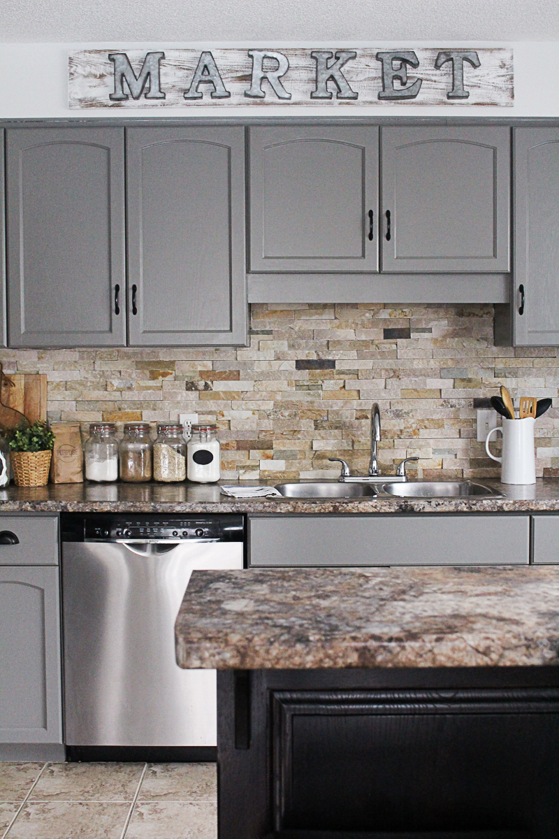 Painting Kitchen Cabinets Gray
