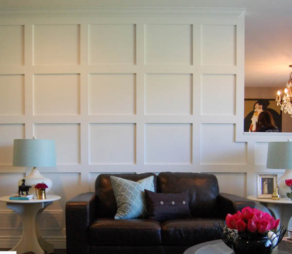 Paneled Wood Wall