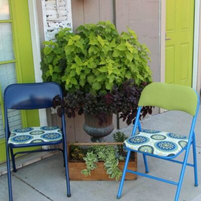 DIY Folding Chairs On A Budget