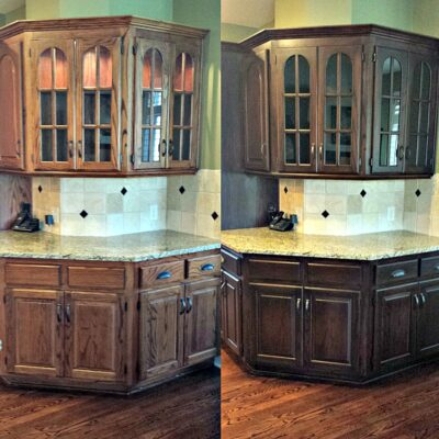 How To Gel Stain Cabinets With Ease