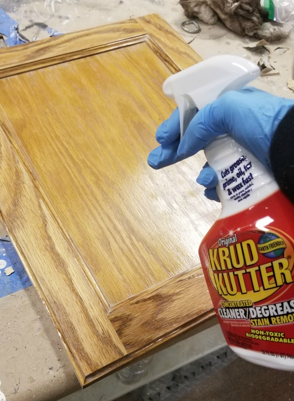 clean gel stained cabinets well