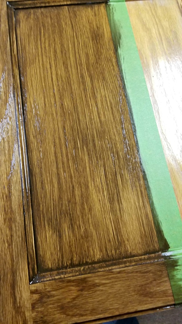 gel stained cabinets made easy