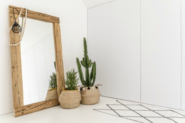 how to update a plate glass mirror with wood