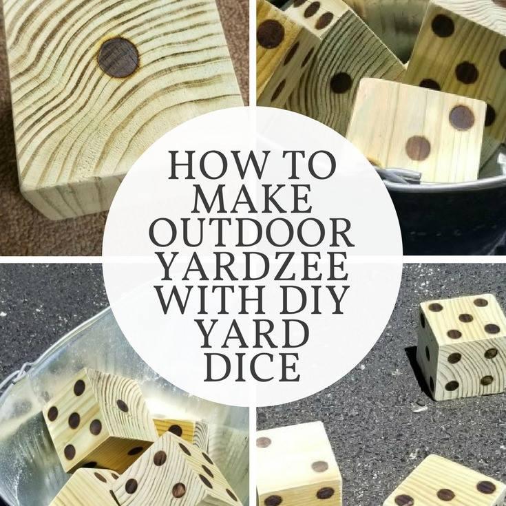 how to make outdoor yardzee with diy yard dice  diva of diy
