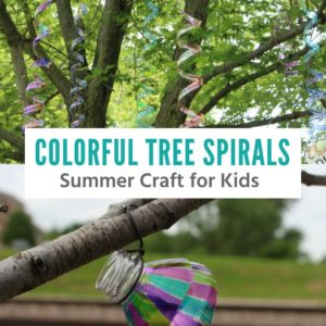 Summer Craft For Kids: Colorful Tree Spirals