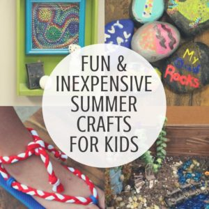 Keep kids busy this summer with these fun and inexpensive summer crafts for kids.