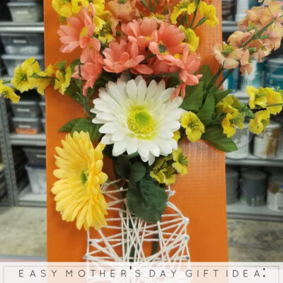 Mason Jar Bouquet: An Easy Mother's Day Gift Idea