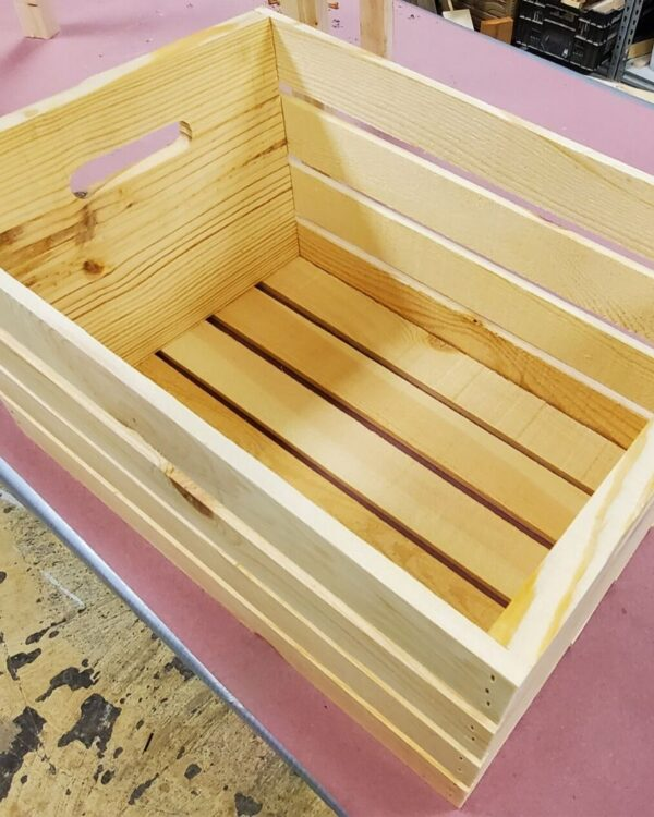 raised garden planter wooden crate