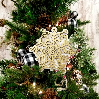 Peace 2020 Snowflake Christmas Ornament