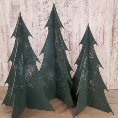 Large Wood Christmas Trees – set of 3