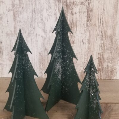 Medium Wood Christmas Trees – Set of 3