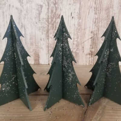 Small Wood Tree Set – Set of 3