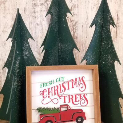 """Fresh Cut Trees"" Framed Sign"